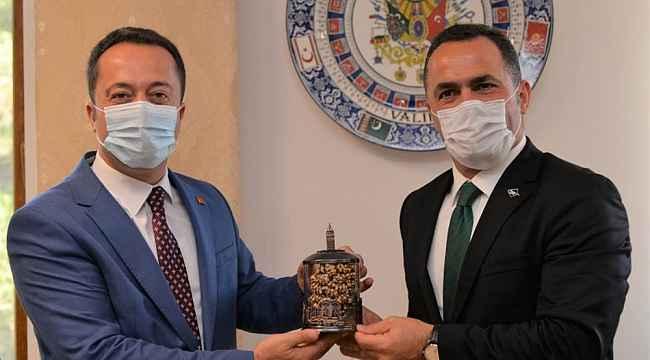Okçular Vakfı Başkanı Yıldız'dan, Bilecik Valisi Şentürk'e ziyaret