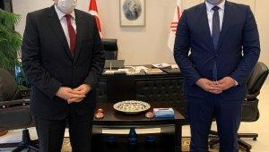 Rektör Kalan YÖK Başkanı Saraç ile ALKÜ'yü görüştü