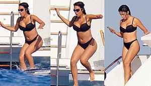 Ronaldo'nun sevgilisi Denize atlamaya doyamadı