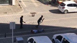 Samsun'da cinayet anı kamerada