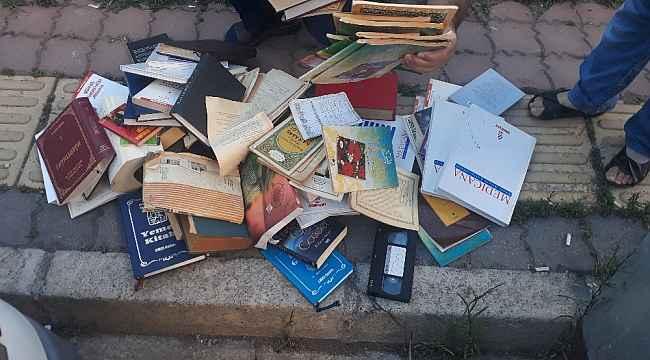 Samsun'da Kur'an ve dini kitaplar çöpe atıldı