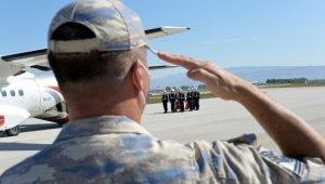 Şehit Uzman Çavuş Ak'ın naaşı düzenlenen törenle memleketi Ordu'ya uğurlandı