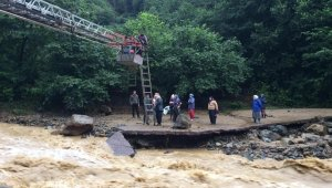 Trabzon'un Sürmene ilçesinde şiddetli yağış