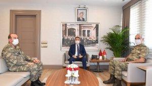 Tümgenerallerden Vali Elban'a ziyaret