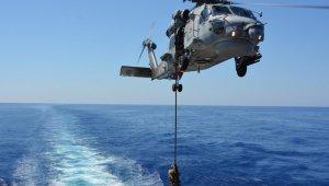 Türk Silahlı Kuvvetleri bağlısı fırkateynler ve görevli personel Orta Akdeniz'de eğitim yaptı