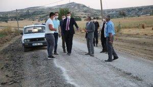 Vali Çelik, köylerde devam eden yol çalışmalarını inceledi