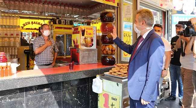 Vali Elban, korona virüs denetimde şalgamın önemine dikkat çekti