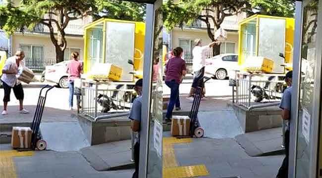 Vatandaş isyan etti, kargo elemanından üçlük atış - Bursa Haberleri