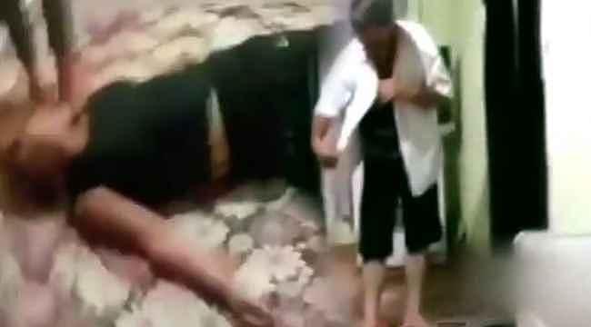 Vicdansız adam görme engelli eşini, çocuklarının gözü önünde dövdü