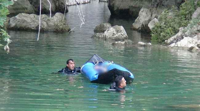 Yüzmek için kanyona giren genç hayatını kaybetti