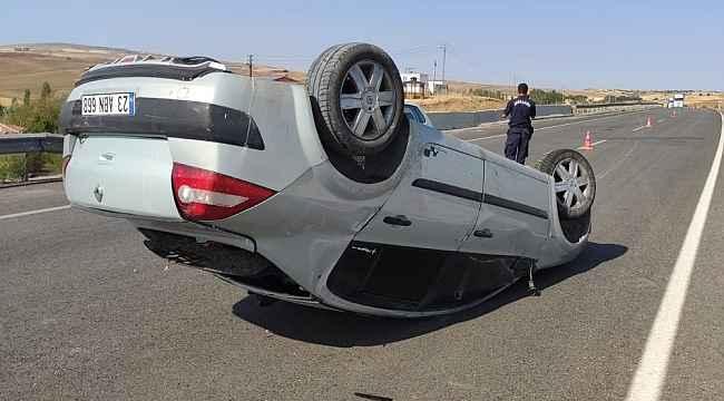 81 metre sürüklenen otomobil ters devrildi: 1 ağır yaralı