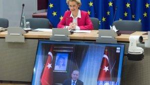 """AB Komisyonu Başkanı Leyen: """"Cumhurbaşkanı Erdoğan ile verimli görüşme gerçekleştirdik"""""""