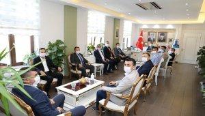 AK Partili başkanlardan Vali Aktaş'a ziyaret