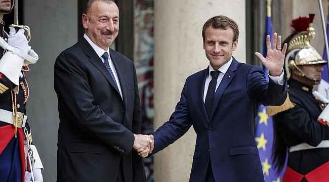 Aliyev ve Macron Azerbaycan-Ermenistan arasındaki durumu görüştü