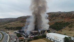 AVM yangını havadan görüntülendi