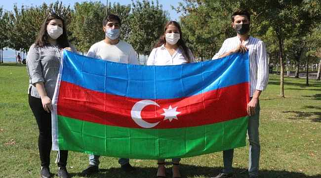 Azerbaycanlı öğrencilerden Ermenistan'a büyük tepki: