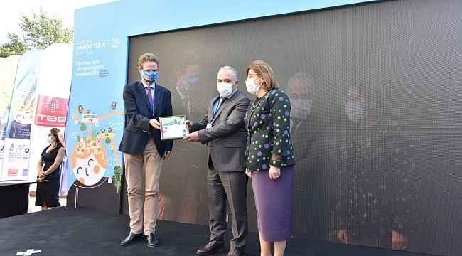 Başakşehir'in bisiklet yoluna TBB'den ödül