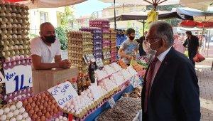 Başkan Büyükkılıç Gültepe Semt Pazarı'na denetimde bulundu