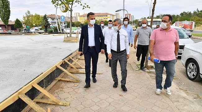Başkan Çınar, Yeşiltepe'de çalışmaları inceledi