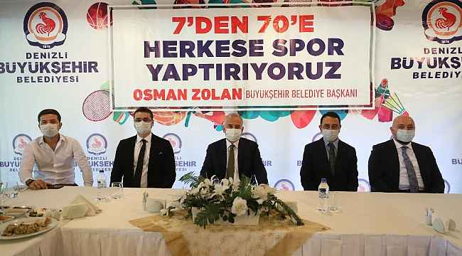 """Başkan Zolan: """"6 yılda 245 bin kişiye ücretsiz spor kursu verdik"""""""