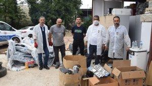 Çalıntı araçları parçalayıp satan kişiler yakalandı