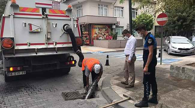 Çan Belediyesi rögar ve kanalizasyon hatlarını temizliyor