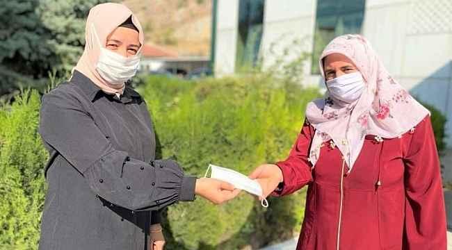 Çiftçilere maske dağıtıldı