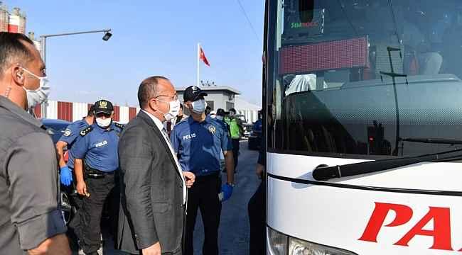 Denizli Valisi Ali Fuat Atik denetimlerine devam ediyor