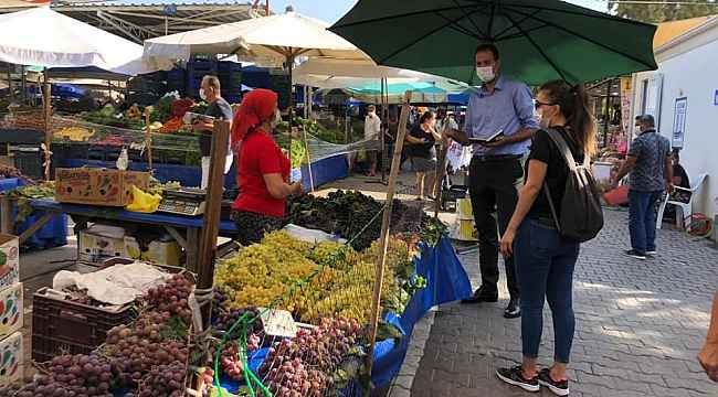 Didim'de, pazar yerleri denetlendi