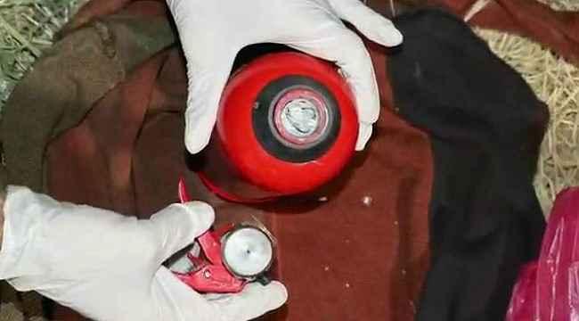 Diyarbakır'da yangın tüpü içine gizlenmiş patlayıcı madde ele geçirildi