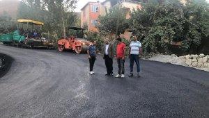 Durankaya beldesi yolu asfaltlandı