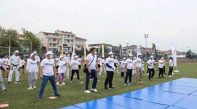 Düzce'de pandemi sonrası ilk spor gösterisi düzenlendi