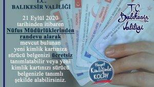 Ehliyetler yeni kimlik kartlarına yüklenmeye başladı