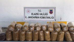 Elazığ'da 161 kilogram tütün ele geçirildi