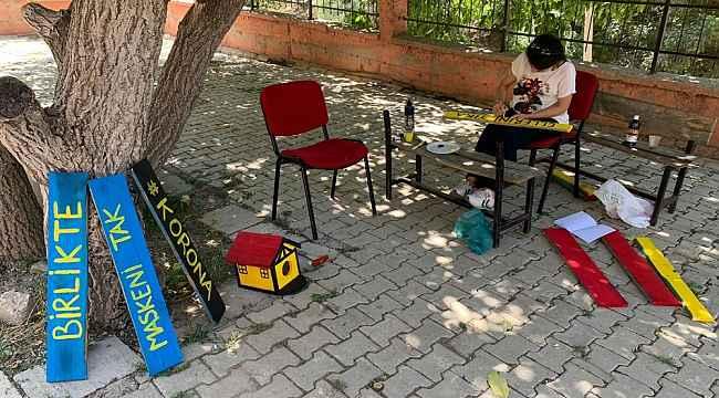 Fedakar öğretmenler okullarını eğitime hazırlıyor