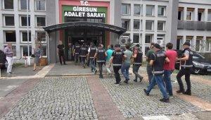 Giresun'un Dereli ilçesinde yıkım ekibine saldırarak yaralayan 9 şüpheli tutuklandı