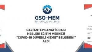 GSO-MEM Covıd-19 güvenli hizmet belgesi aldı