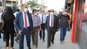 Hakkari'deki kurum müdürlerinden maske denetimi