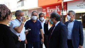İl Sağlık Müdürü Benli ve İl Tarım ve Orman Müdürü Şahin'den Maske Denetimi