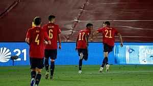 İspanya'da Ansu Fati, A Milli Takım'da gol atan en genç futbolcu oldu