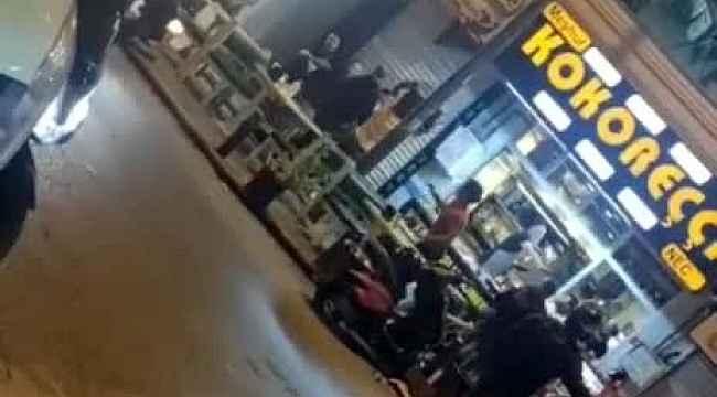 İstanbul'da döner bıçaklı, masalı ve sandalyeli kavga kamerada