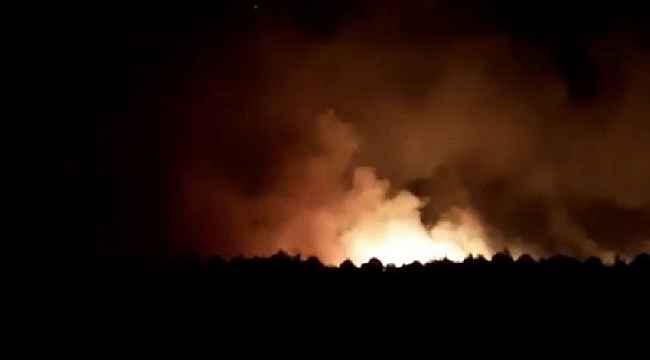 İzmir'de otluk alanda korkutan yangın, çok sayıda ekip müdahale ediyor