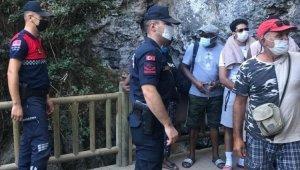Jandarmadan Zeus Mağarası'nda korana virüs denetimi