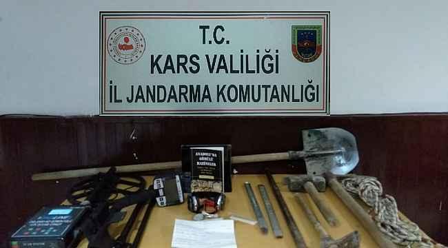 Kars'ta defineciler suçüstü yakalandı