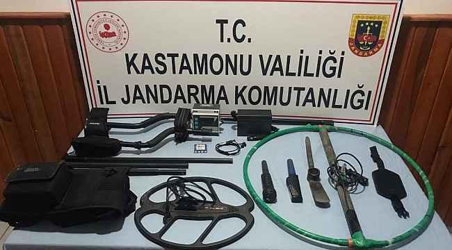 Kastamonu'da izinsiz kazı yapan 8 kişi gözaltına alındı