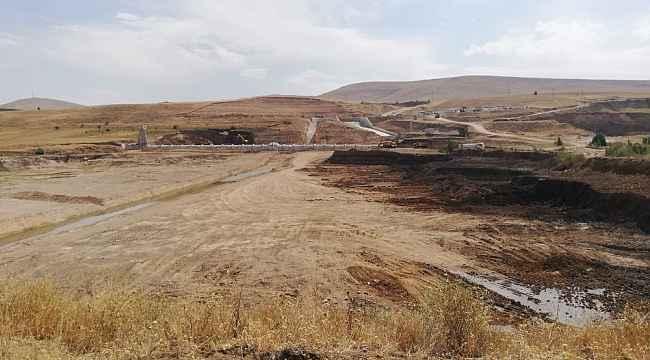 Kayseri Pınarbaşı Planlı Barajı çalışmaları devam ediyor