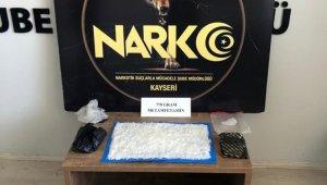 Kayseri'de 770 gram metamfetamin ele geçirildi