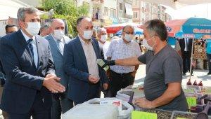 Kırıkkale'de, vali ve belediye başkanından 'korona virüs' denetimi