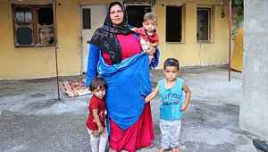 Kocası terk etti, 4 çocuğuyla ortada kaldı
