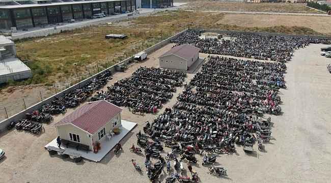 Konya'da 4 bin 5 motosiklete trafikten men